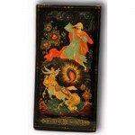 The Tale of the Firebird and the Humpbacked Pony - Palekh Lacquer Box