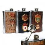 Russian, Soviet military officer flask, USSR, present for men