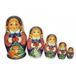 Snowmaiden with animals Babushka Nesting Dolls
