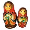 Daffodil and Narcissus Flowers Nesting Dolls