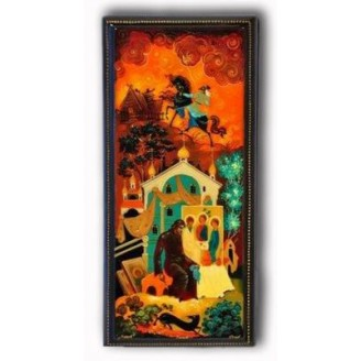 The Holy Trinity, Andrei Rublev - Kholui Lacquer Box