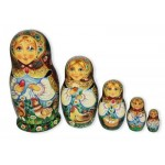 Matryoshka with Red Easter Egg
