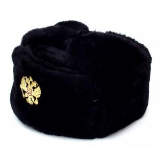 Russian Marines Military Winter Fur Hat, Ushanka