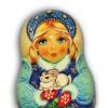 Snowmaiden with Christmas Bunny Matryoshka