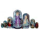 Snowmaiden Matryoshak Nesting Dolls by Elena Labuzova