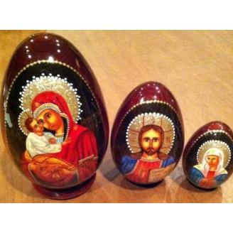 Madona and Jesus Nesting Eggs
