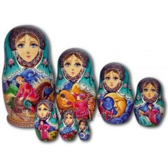 The Humpbacked Pony Fairytale - Matryoshka Nesting Dolls