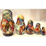 Snow Queen Fairytale - Matryoshka Nesting Dolls