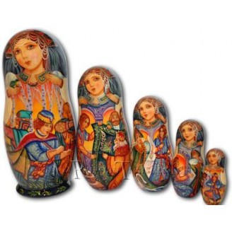 The Frog Princess - Matryoshka Nesting Dolls