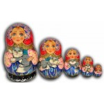Gray Cats - Matryoshka Nesting Dolls