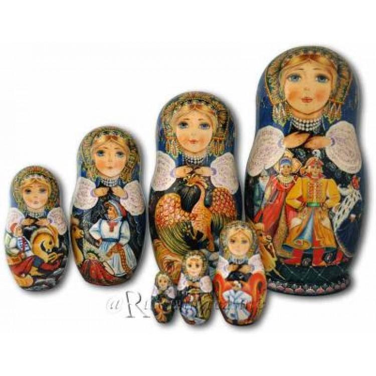 Humpbacked pony fairytale russian matryoshka nesting dolls