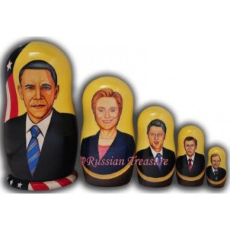 Political Leaders - Obama, Clinton, etc - Matryoshka Nesting Dolls