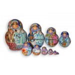 The Snow Maiden - Russian Matryoshka Nesting Dolls