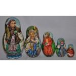 The Snow Maiden Fairytale - Russian Matrioshka Dolls
