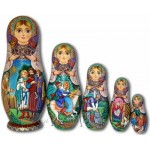Ivan Tsarevich, the Firebird and the Grey Wolf - Matrioshka Dolls