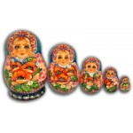 Bouquet of Poppies - Matryoshka nesting dolls