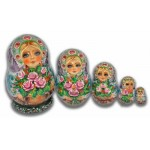 Beautiful Flowers - Matryoshka Nesting Dolls