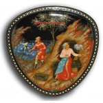 The Fisherman and the Fish - Palekh Lacquer box