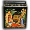 The Tale of Golden Cockerel - Palekh Lacquer box