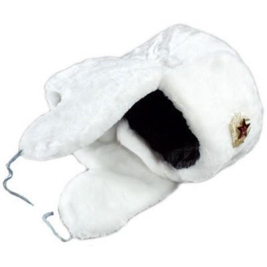 USSR military fur hat - white ushanka a0ae0a015b8
