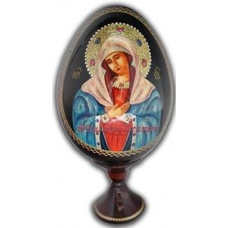 Virgin Mary, Mother of Jesus - Wooden Egg