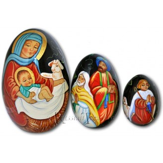 Nativity Scenes - Russian Stacking Eggs