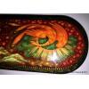 Firebird fairy tale - Kholui paper mache lacquer box by Irina Lubich