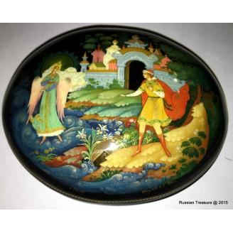 Tsar Saltan Fairytale - Palekh Lacquer Box by Papulov
