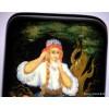 Vasilisa the Beautiful - Palekh lacquer box by Vorzina
