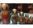 Russian Fairytales - Baba Yaga, Koschey Bessmertny - Matroushka Dolls
