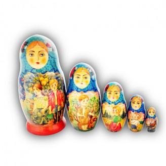 Matryoshka Doll - Village Kids by Zolov from Khotkovo Village
