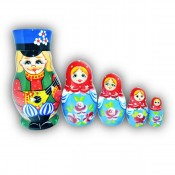 Russian Boy Balalaika Matryoshka Doll