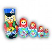 Russian Boy Balalaika Matryoshka Doll