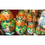 Four Seasons - Spring Design - Matryoshka Nesting Dolls