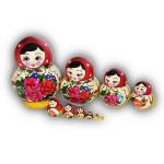Semenovo 10 piece set Matryoshka Dolls