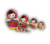 Semenovo 10 piece set Matryoshka Dolls
