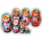 Small Matyoshka Dolls with Traditional Designs