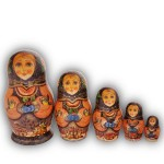 Winter Berries Matryoshka Dolls