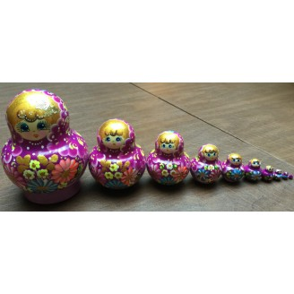 10 piece traditional Matryoshka Nesting Dolls