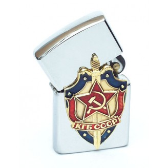 Windproof Lighter - KGB Officer, USSR/CCCP