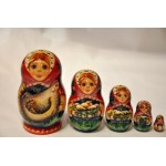 Hen with Brood of Chickens - Matrioshka Doll