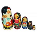Santa Clause at the Christmas Party Nesting Dolls