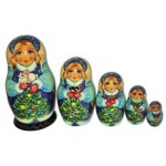 Snowmaiden with Christmas Bunny Matryoshka
