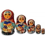 Cat on the Lap - Matryoshka Nesting Dolls
