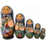 Cats in the Kitchen - Matryoshka Nesting Dolls