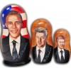 Barack Obama and Democratic Presidents Nesting Dolls