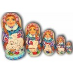 Polar Bears - Matryoshka Nesting Dolls