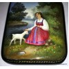 Sister Alyonushka and Brother Ivanushka - Fedoskino lacquer box by Baulina
