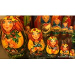 Four Seasons - Fall Design - Matryoshka Nesting Dolls